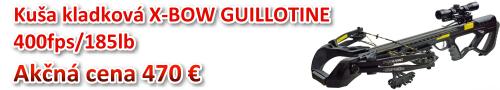 Akčná cena: Kuša kladková X-Bow Guillotine 400fps/185lb za 513 €